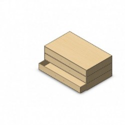 Box with 3 drawers dxf file